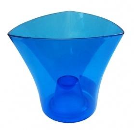 Кашпо для орхидей Дельта, 160х95х145, треугольник, синий фото