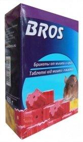 Брикеты от мышей и крыс, 100г, BROS, 88077 фото