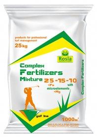 Комплексное минеральное удобрение для газона Complex Fertilizer (Комплекс), 25кг, NPK 25.15.10+МЕ, TM ROSLA (Росла) фото