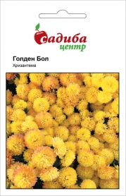 Семена хризантемы Голден болл, 0.1г, Hem, Голландия, Садиба Центр фото
