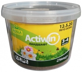 Комплексное минеральное удобрение для ландшафта Actiwin (Активин), 2.5кг, 12.5.20+ME, Лето-Осень, 3-4 мес., TM ROSLA (Росла) фото