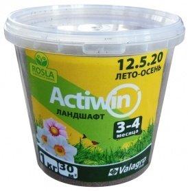 Комплексное минеральное удобрение для ландшафта Actiwin (Активин), 1кг, NPK 12.5.20+ME, Лето-Осень, 3-4 мес., TM ROSLA (Росла) фото