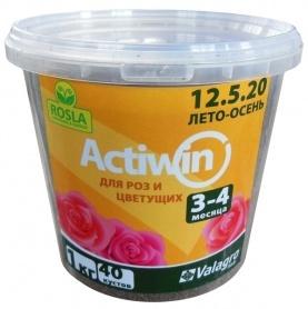 Комплексное минеральное удобрение для роз Actiwin (Активин), 1кг, NPK 12.5.20+ME, Лето-Осень, 3-4 мес., TM ROSLA (Росла) фото