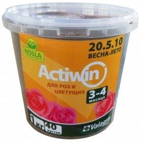 Комплексное минеральное удобрение для роз Actiwin (Активин), 1кг, NPK 20.5.10+ME, Весна-Лето, 3-4 мес., TM ROSLA (Росла) фото