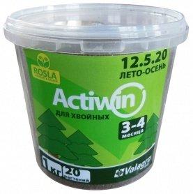 Комплексное минеральное удобрение для хвои Actiwin (Активин), 1кг, NPK 12.5.20+ME, Лето-Осень, 3-4 мес., TM ROSLA (Росла) фото
