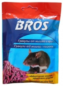 Гранулы от мышей и крыс, 90г, BROS фото